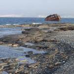 Three Stars wreck shoreline