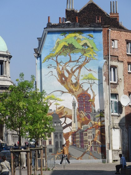 Wall mural painting, Brussels